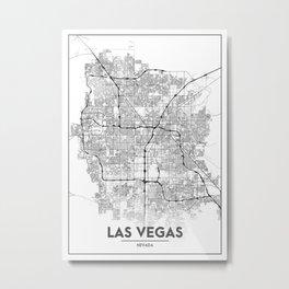 Minimal City Maps - Map Of Las Vegas, Nevada, United States Metal Print