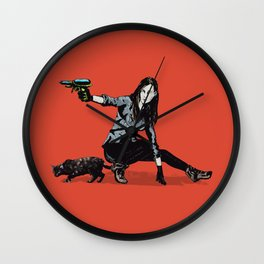 Whiskered Away Wall Clock