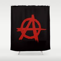 anarchy Shower Curtains featuring Anarchy by ArtSchool