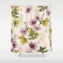 Geranium & Gardenmint Shower Curtain