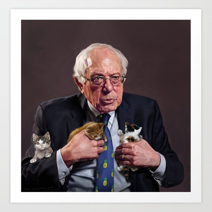 Bernie and Kittens Art Print