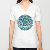 diamond V-neck T-shirts featuring Diamond by Marta Olga Klara