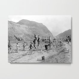 Panama Canal construction Metal Print