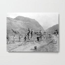Panama Canal construction Metal Print