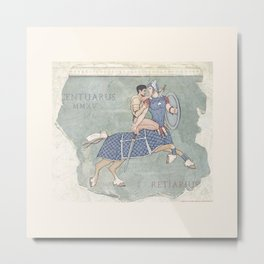 Centaurus and Retiarius Metal Print