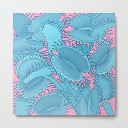 Free hugs (Venus Flytrap on pink) Metal Print