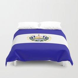 El Salvador flag emblem Duvet Cover