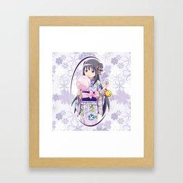 Homura Akemi - Yukata edit. (rev. 1) Framed Art Print