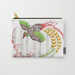 Pheasant (Pheasant and cherry blossoms on sheet music) Carry-All Pouch