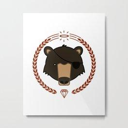 Mr. Bear Metal Print