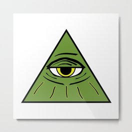 All Seeing Eye by CultGrrrl Creations Metal Print