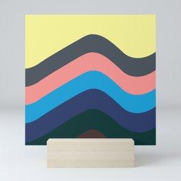 California Retro Waves: Skate, Surf & Sand Mini Art Print