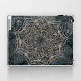 Smoke Swirl Blue Mandala Laptop & iPad Skin