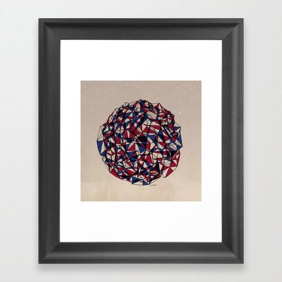 - red blue - Framed Art Print