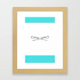 Row Hard Framed Art Print