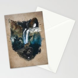 Calm of the Wolf Stationery Cards