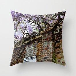 Wisteria, Gloucester Circus Throw Pillow