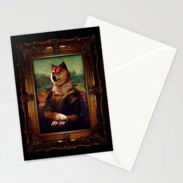 Doge Mona Lisa Fine Art Shibe Meme Painting Stationery Cards