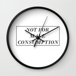 Male Consumption Wall Clock