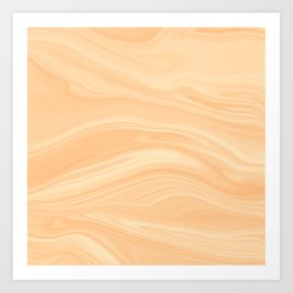 Abstract Wood Marble Texture Art Print