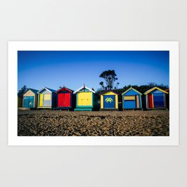 Brighton Beach Bathing Boxes. Melbourne. Australia. Art Print
