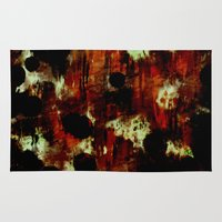 dark side Area & Throw Rugs featuring The Dark Side by Fine2art