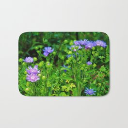 Lavender Blue Flowers Bath Mat