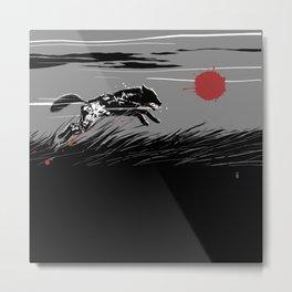 Mecha Wolf Metal Print