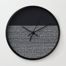 Riverside (Black) Wall Clock