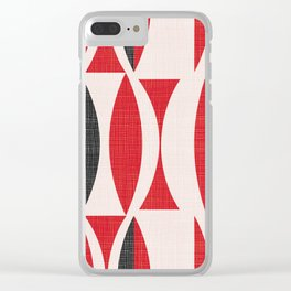 Seventies in Cherry Red Clear iPhone Case