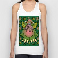 cthulhu Tank Tops featuring Cthulhu by Squaredog