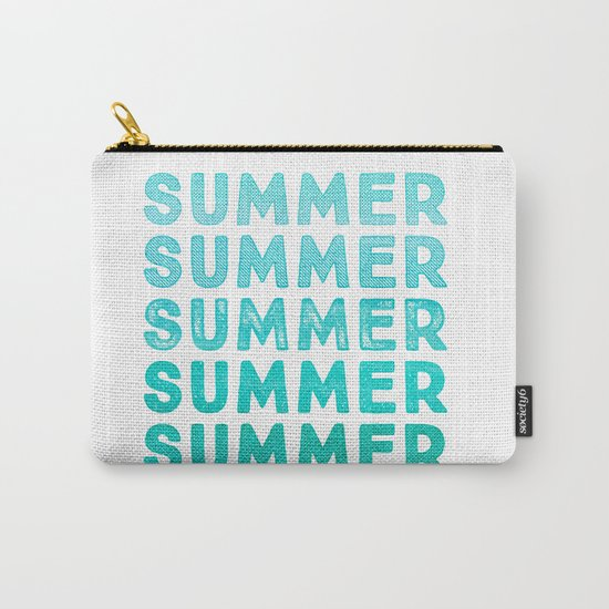 SUMMER- typography Carry-All Pouch