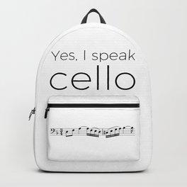 I speak cello Backpack
