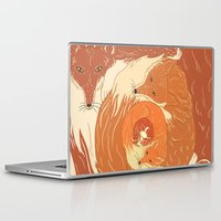 foxes Laptop & iPad Skins featuring Foxes by Beesants