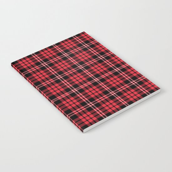 Red And Black Tartan Plaid Notebook