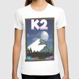 K2 Mountain travel poster T-shirt