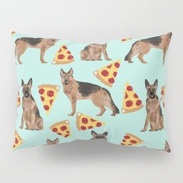 German Shepherd pizza party dog person gifts pet portraits dog breeds cheesy pizzas Pillow Sham