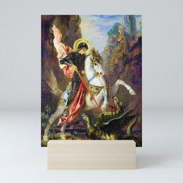 12,000pixel-500dpi - Gustave Moreau - Saint George And The Dragon - Digital Remastered Edition Mini Art Print