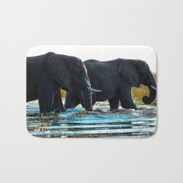 Elephants (Color) Bath Mat