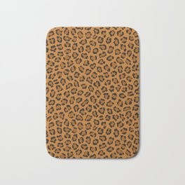Dark leopard animal print Bath Mat