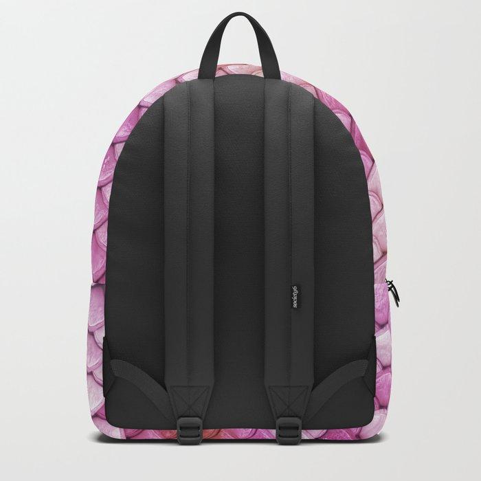 Multicolor pink mermaid glitter scales - Mermaidscales Backpack