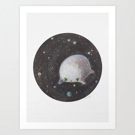 Blob floating in space Art Print