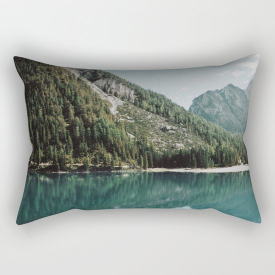 Grainy Lake Rectangular Pillow