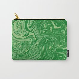 Green pastel abstract marble Carry-All Pouch