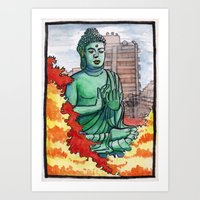 Japan : Toganji Temple Daibutsu Art Print