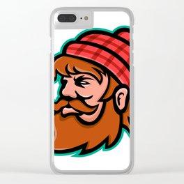 Paul Bunyan Lumberjack Mascot Clear iPhone Case