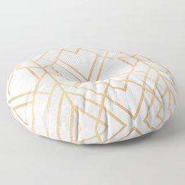 Golden Geo 2 Floor Pillow