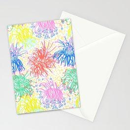 Australian Firewheel Flowers in Mod Rainbow + White Stationery Cards