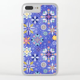 Christmas snowflakes pattern Clear iPhone Case