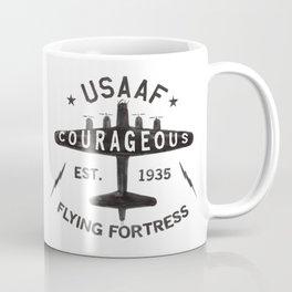 B17 Bomber Courageous Print Coffee Mug
